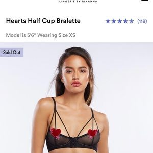 *Sold Out* SAVAGE X FENTY Half cup Heart Bra